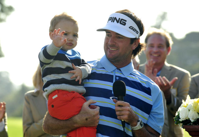 Bubba Watson and his son win the weekend at Riviera in spite of golfer's snippy attitude