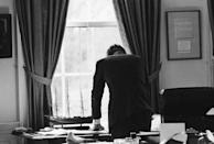<p>President Kennedy in the Oval Office during the Steel Crisis of 1962. </p>
