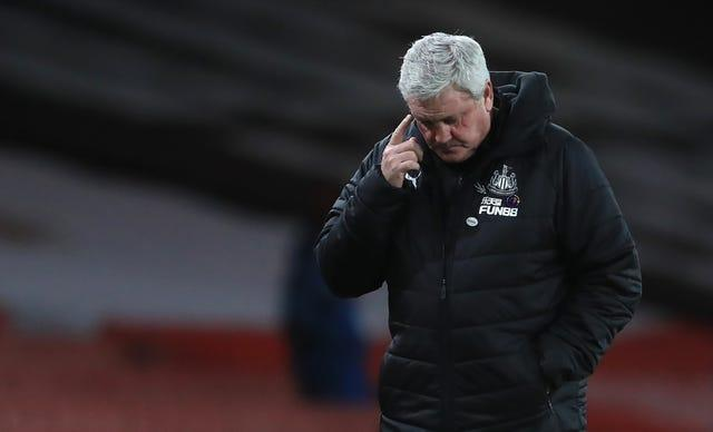 Newcastle manger Steve Bruce scratches his head