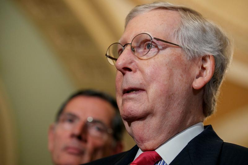 Senate Majority Leader Mitch McConnell (R) will enter the 2020 election cycle as a deeply unpopular lawmaker — but Democrats' path to victory is still incredibly narrow. (Photo: ASSOCIATED PRESS)