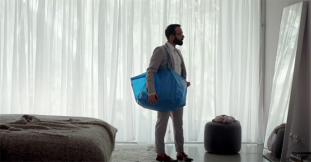 Ikea recently released a video celebrating the 30-year-anniversary of its blue tote bag. (Photo: youtube/IKEA)