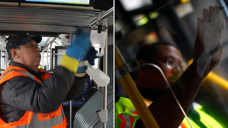 Sydney bus drivers cleaning their busses more frequently due to coronavirus
