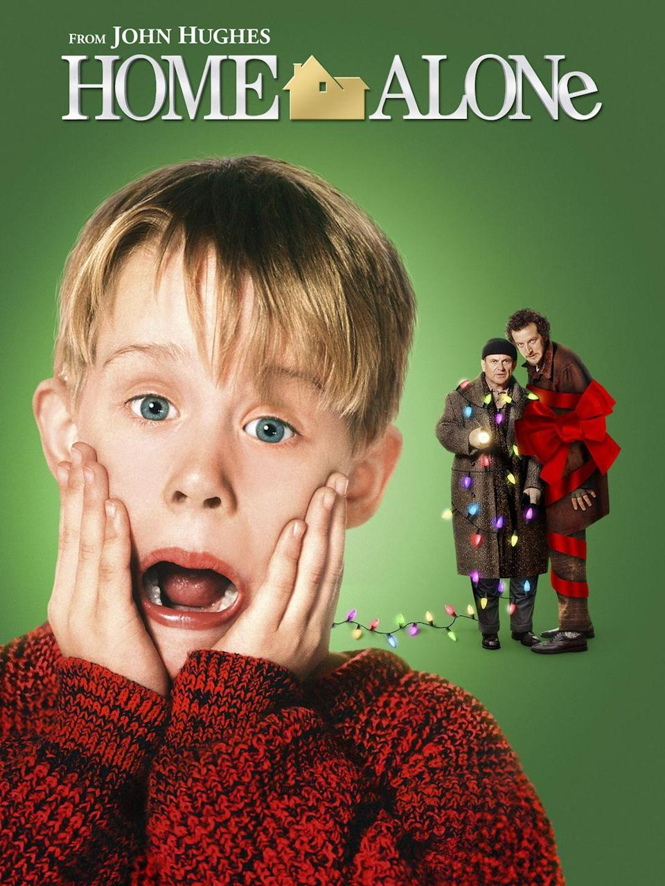 """<p>Nearly 30 years have passed since most-watched Christmas movie <em>Home Alone</em> <a href=""""https://www.forbes.com/sites/simonthompson/2018/12/02/the-25-highest-grossing-christmas-movies-of-all-time-at-the-u-s-box-office-2/#63ae1d9c95be"""" rel=""""nofollow noopener"""" target=""""_blank"""" data-ylk=""""slk:earned $285 million at the box office"""" class=""""link rapid-noclick-resp"""">earned $285 million at the box office</a>, but we still love watching 8-year-old Kevin McCallister plot and scheme his way out of a home burglary today.</p><p><a class=""""link rapid-noclick-resp"""" href=""""https://www.amazon.com/Home-Alone-Macaulay-Culkin/dp/B0031QNMKK/?tag=syn-yahoo-20&ascsubtag=%5Bartid%7C10055.g.1315%5Bsrc%7Cyahoo-us"""" rel=""""nofollow noopener"""" target=""""_blank"""" data-ylk=""""slk:WATCH NOW"""">WATCH NOW</a></p><p><strong>RELATED</strong>: <a href=""""https://www.goodhousekeeping.com/life/entertainment/a28634031/home-alone-reboot-disney-streaming/"""" rel=""""nofollow noopener"""" target=""""_blank"""" data-ylk=""""slk:Disney Is Rebooting Home Alone for Its Disney+ Streaming Service"""" class=""""link rapid-noclick-resp"""">Disney Is Rebooting <em>Home Alone </em>for Its Disney+ Streaming Service</a></p>"""