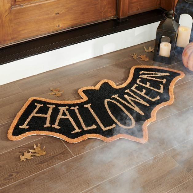 <p>Dare to enter the bat cave with this <span>Bat Shaped Hooked Door Mat</span> ($90).</p>