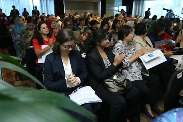 Attendees at the International Women's Day 2018 forum in Kuala Lumpur March 8, 2018. ― Picture by Zuraneeza Zulkifli