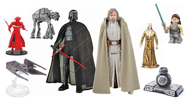A selection of <i>The Last Jedi</i> toys available on Force Friday