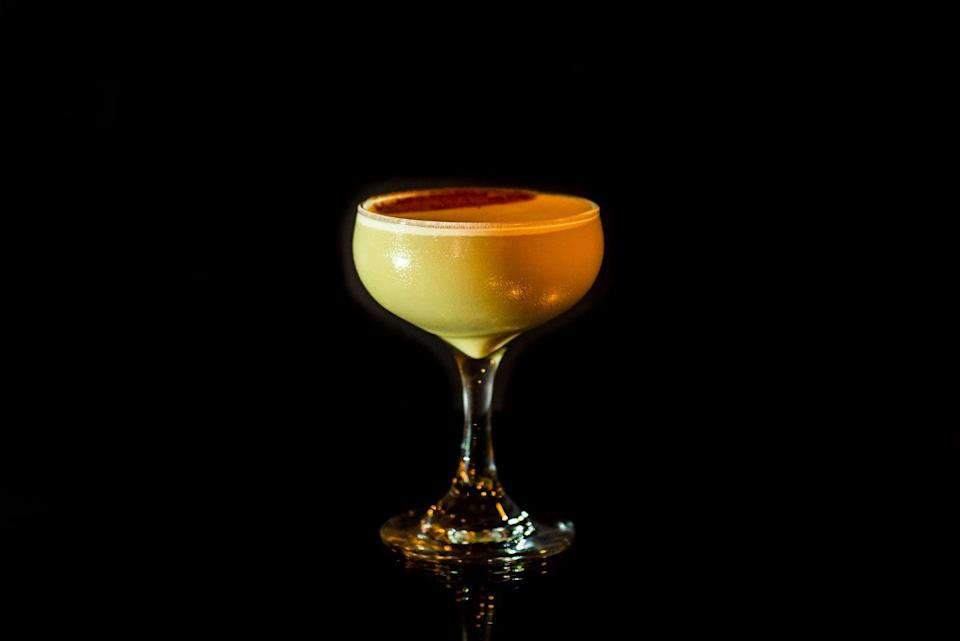 """<p><strong>Ingredients</strong><br>1.5 oz Jamaican Rum<br>.5 oz Nocello Walnut Liqueur<br>.5 oz espresso<br>.5 oz simple syrup<br>1 oz heavy cream<br>1 whole egg</p><p><strong>Instructions</strong><br>Shake all ingredients without ice for 30 seconds. Add ice, shake again, and strain into cocktail glass or brandy balloon. Garnish with cinnamon dust.</p><p><em>From <a href=""""https://www.burkeandwillsny.com/"""" rel=""""nofollow noopener"""" target=""""_blank"""" data-ylk=""""slk:Burke & Wills"""" class=""""link rapid-noclick-resp"""">Burke & Wills</a>, New York City</em></p>"""