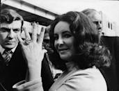 "<p>How does someone propose to a woman who's been married four times? With a 39.19 carat Asscher cut diamond. Elizabeth Taylor's ring, which is known as the Krupp diamond, sparked a trend of grandiose, over-the-top engagement rings. <br></p><p><strong>RELATED: </strong><a href=""https://www.goodhousekeeping.com/beauty/fashion/g1550/elizabeth-taylor-wedding-dresses/"" rel=""nofollow noopener"" target=""_blank"" data-ylk=""slk:A Look Back at Elizabeth Taylor's Wedding Gowns"" class=""link rapid-noclick-resp"">A Look Back at Elizabeth Taylor's Wedding Gowns</a></p>"