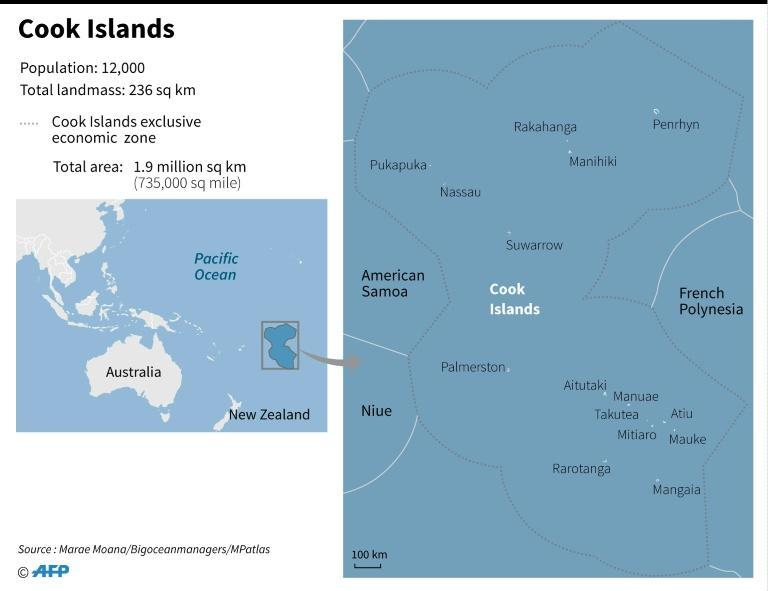 Map showing the Cook Islands