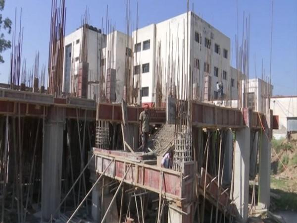 Construction work of additional building at District Hospital campus is underway in J&K's Rajouri.