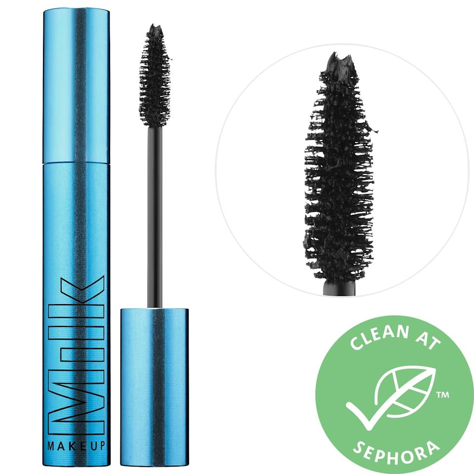 <p>The <span>Milk Makeup KUSH Waterproof Mascara</span> ($25) contains heart-shaped fibers and hemp-derived cannabis seed oil to condition lashes.</p>