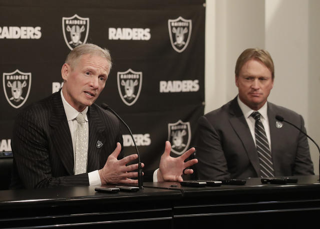 If Jon Gruden is openly making the personnel decisions for the Raiders, then what exactly is Mike Mayock's job?