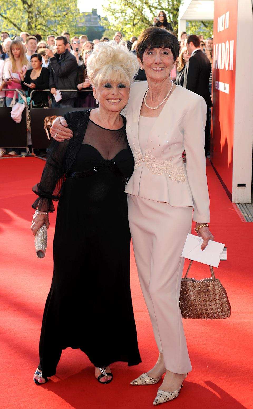 Barbara Windsor and June Brown arriving for the British Academy Television Awards at the Royal Festival Hall in central London.