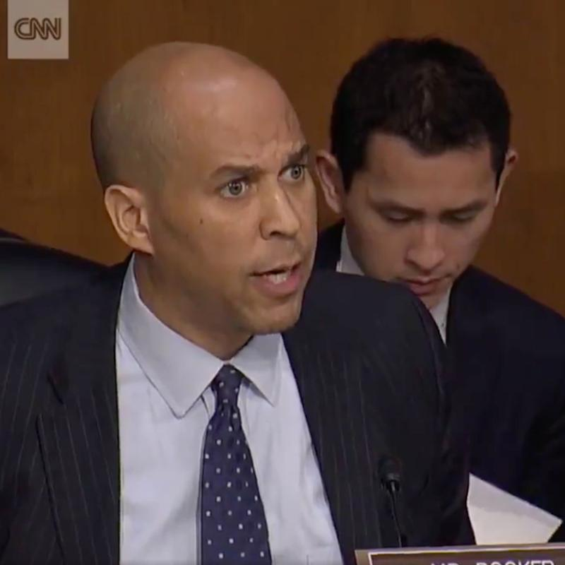 You Don't Even Need Audio to Feel the Passion in Cory Booker's Speech About Trump