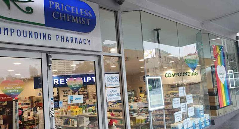 Priceless Chemist in Potts Point accused of selling toilet paper for an inflated cost during the coronavirus toilet paper shortage.