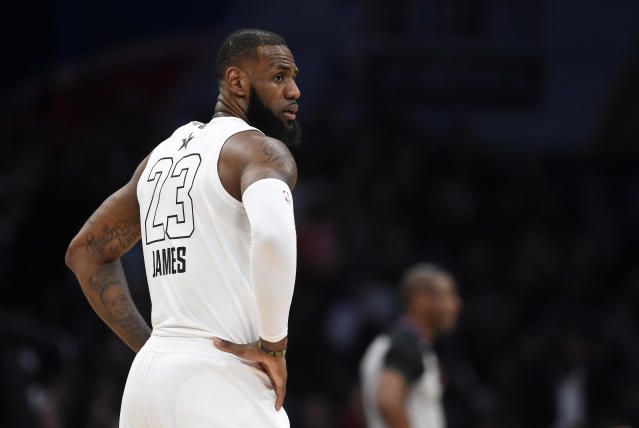 LeBron James wants you to know that he does not believe in playing the Warriors in the playoffs before the NBA Finals. (AP)