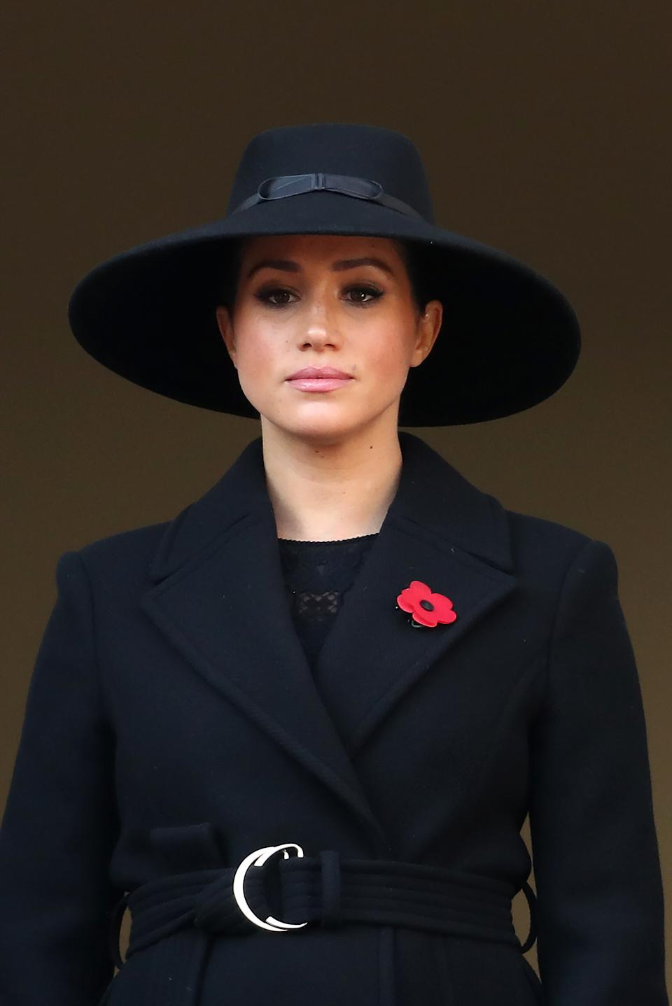 Meghan Markle watched the service this morning from another balcony [Image: Getty]