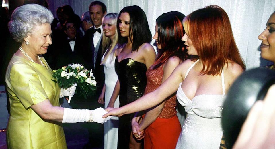 Geri Horner first met the Queen in 1997 with the Spice Girls (Getty Images)