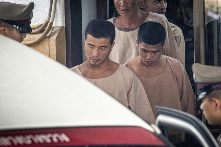 Zaw Lin (left) and Win Zaw Tun (right) were found guilty of the rape and murder of Hannah Witheridge and of killing David Miller
