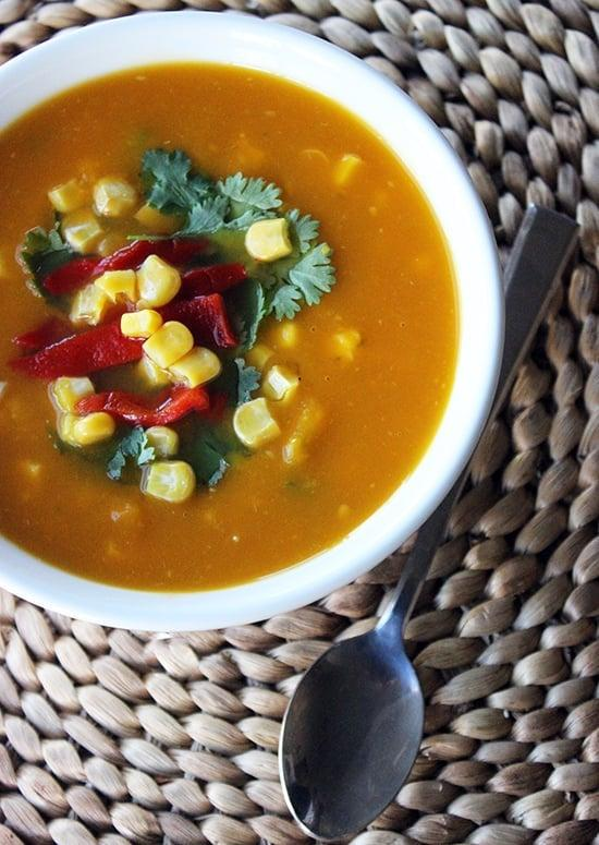 """<p>This vegetable <a href=""""https://www.popsugar.com/fitness/Healthy-Soup-Recipes-Winter-42794707"""" class=""""ga-track"""" data-ga-category=""""Related"""" data-ga-label=""""https://www.popsugar.com/fitness/Healthy-Soup-Recipes-Winter-42794707"""" data-ga-action=""""In-Line Links"""">soup is perfect for the colder months</a> and filled with deliciousness, all for only 231 calories. The soup can be made with or without chicken (see recipe for substitutions).</p> <p><strong>Get the recipe:</strong> <a href=""""https://www.popsugar.com/fitness/Vegetable-Paleo-Soup-Recipe-32949327"""" class=""""ga-track"""" data-ga-category=""""Related"""" data-ga-label=""""https://www.popsugar.com/fitness/Vegetable-Paleo-Soup-Recipe-32949327"""" data-ga-action=""""In-Line Links"""">Santa Fe vegetable soup</a></p>"""