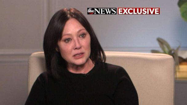 PHOTO: Actress Shannen Doherty discusses her stage 4 breast cancer diagnosis with ABC News' Amy Robach in an interview that aired on 'Good Morning America.' (ABC News)