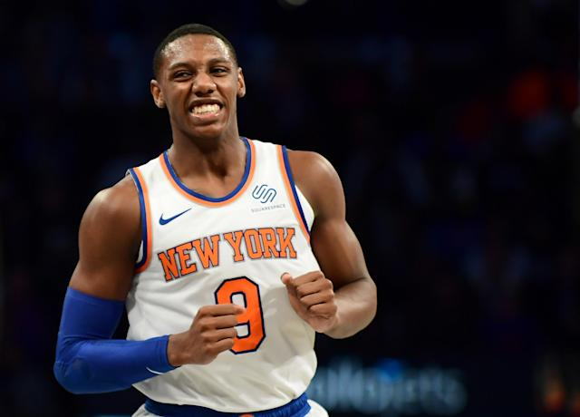 While many thought RJ Barrett playing in garbage time on Sunday night was a mistake, David Fizdale isn't going to rest his star rookie just because. (Emilee Chinn/Getty Images)