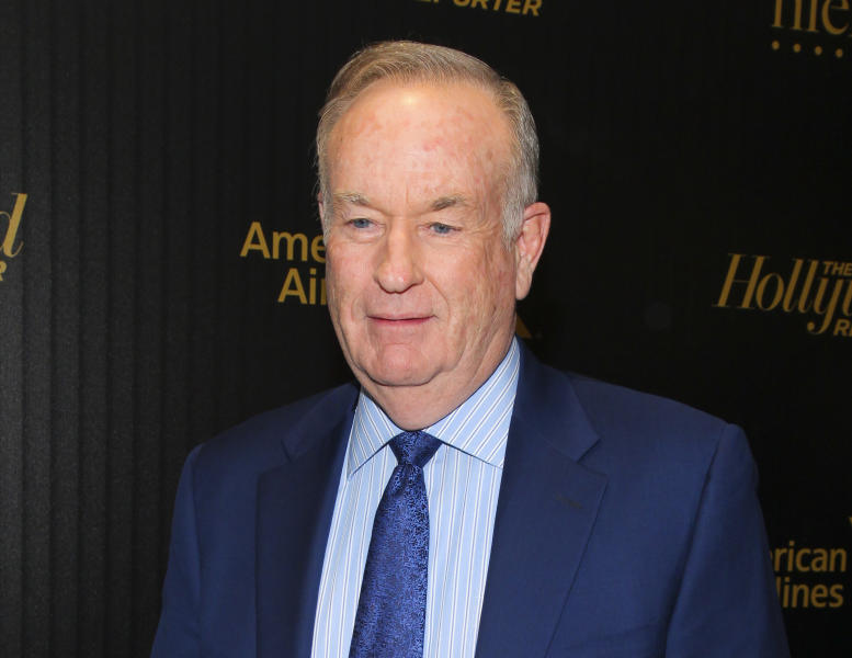"FILE - In this April 6, 2016, file photo, Bill O'Reilly attends The Hollywood Reporter's ""35 Most Powerful People in Media"" celebration in New York. O'Reilly is questioning his Fox News Channel colleague Megyn Kelly's loyalty for writing in her just-published memoir and talking about accusations that former Fox chief Roger Ailes made unwanted sexual advances on her a decade ago. (Photo by Andy Kropa/Invision/AP, File)"