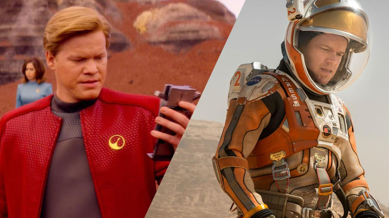 <p>Jesse Plemons is on the left, he's from<em> Breaking Bad</em>, <em>Black Mirror</em> and <em>Bridge Of Spies</em>. Matt Damon's on the right, from <em>The Martian</em>, the <em>Bourne</em> films and the <em>Ocean's</em> trilogy. </p>