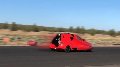 In runway tests, the Switchblade flying sports car hit 88 mph, the take-off speed of the vehicle - the same speed the Back to the Future DeLorean had to reach before it could travel through time.