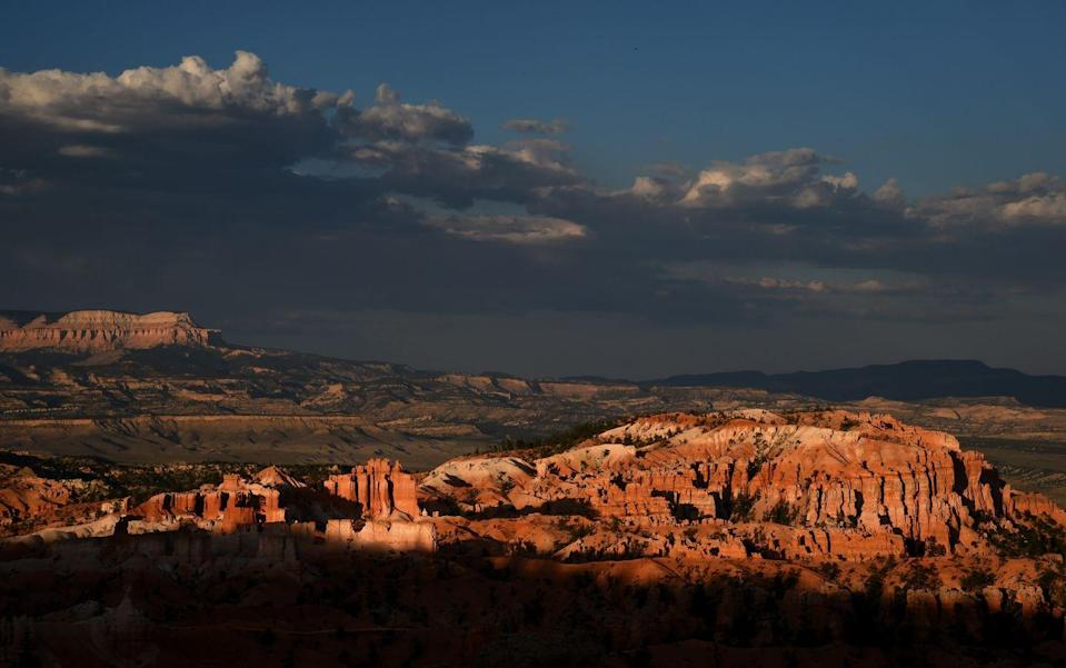 <p>The sun sets on the Bryce Amphitheater in Bryce Canyon National Park, Utah // August 12, 2016</p>