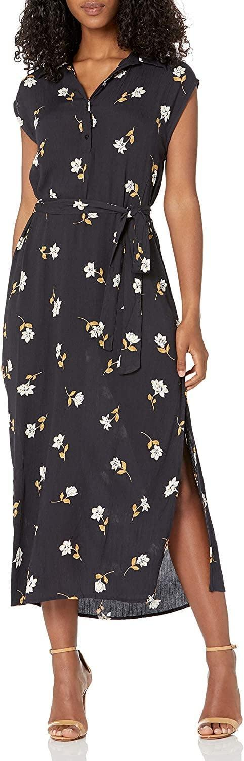 <p>This <span>Billabong Lovely Ways Button Front Midi Dress</span> ($59-$66) will transition from a day at the office to afternoon cocktails with your colleagues. Switch to heels after 5 p.m. if you'd like to add a touch of dressiness. </p>