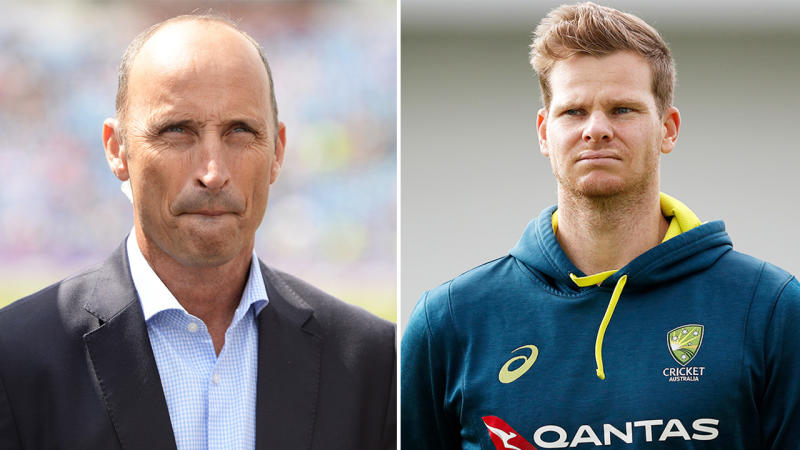 Nasser Hussain (pictured left) and Steve Smith (pictured right). (Getty Images)