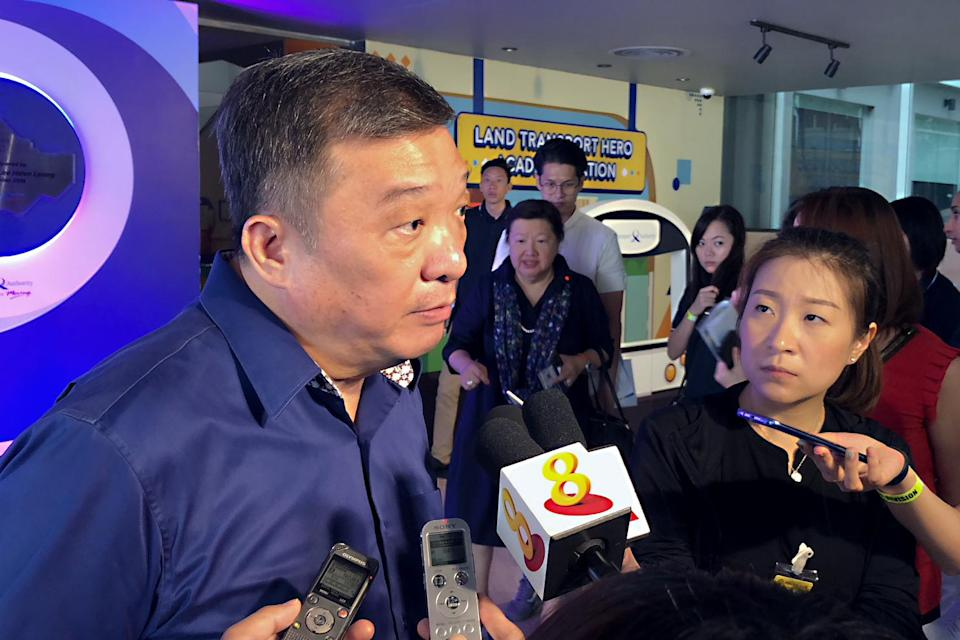 Chairman of the Government Parliamentary Committee for transport and Potong Pasir MP Sitoh Yih Pin speaks to reporters at the LTA HQ on Wednesday, 19 September 2018. PHOTO: Nicholas Yong/Yahoo News Singapore