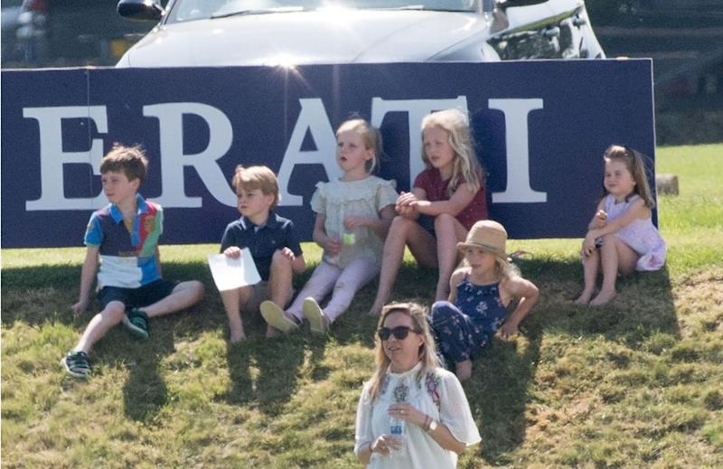 Prince George and Autumn Phillips