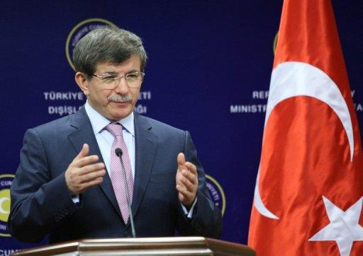 Turkish Foreign Minister Ahmet Davutoglu, pictured in Ankara, on July 19, 2013