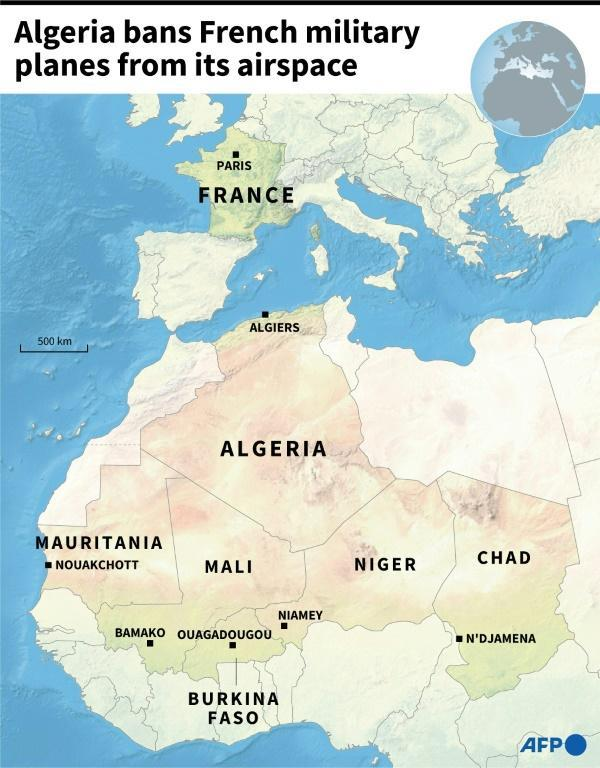 Algeria bans French military planes from its airspace (AFP/Aude GENET)