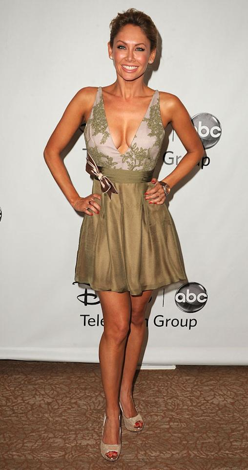 "Kym Johnson (""Dancing With the Stars"") arrives at  the Disney/ABC Television Group Summer 2012 Press Tour Party at The  Beverly Hilton Hotel on July 27, 2012 in Beverly Hills, California."
