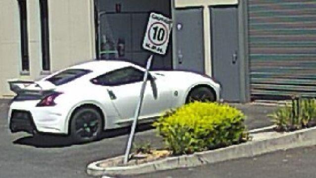 Police are searching for this Nissan coupe. Source: Victoria Police
