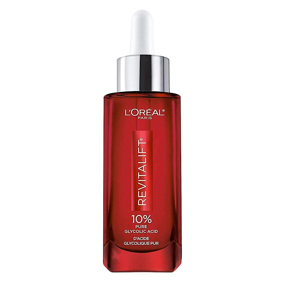 <p><span>L'Oréal Paris Revitalift Derm Intensives 10% Pure Glycolic Acid Serum</span> ($21, originally $40)</p>