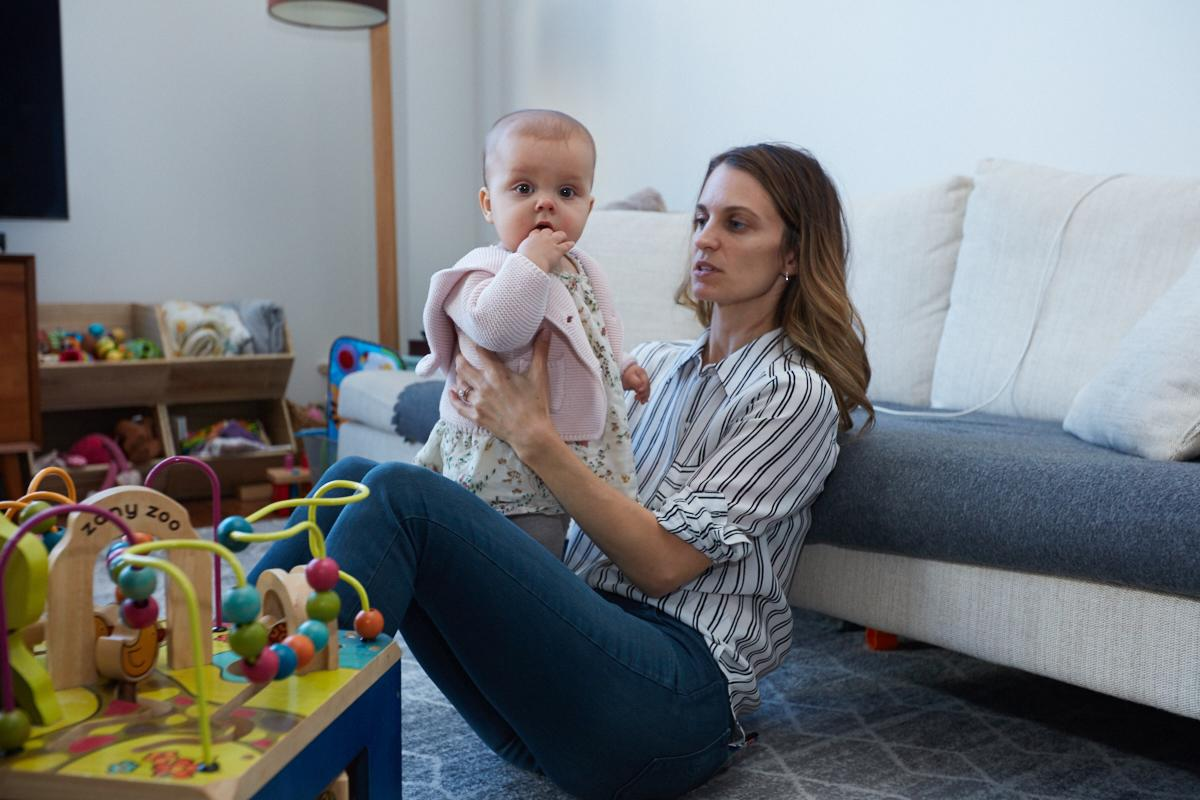 "<p>""Work has definitely taken a backseat [since becoming a mother]. I have a nanny come two days a week, so those are some of my work days. I get done what I can, but I end up doing a lot of work at night. It's sort of like there's no breaks."" </p>"