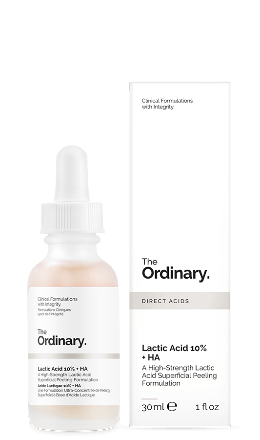 "<h3>Lactic Acid 10% + HA 2%<br></h3> <br>Straight up: Some will find the scent of this serum repellant. And for those folks, the brand offers a <a href=""https://us.lookfantastic.com/the-ordinary-lactic-acid-5-ha-2-superficial-peeling-formulation-30ml/11363397.html"" rel=""nofollow noopener"" target=""_blank"" data-ylk=""slk:Lactic Acid 5% + HA 2%"" class=""link rapid-noclick-resp"">Lactic Acid 5% + HA 2%</a>, which is far less fragrant. For those who don't mind this formula's <em>au naturel</em> scent, it offers all the benefits of an AHA (reduced inflammation, scarring, and exfoliation) without the tingling.<br><br><strong>The Ordinary</strong> Lactic Acid 10% + HA, $, available at <a href=""https://go.skimresources.com/?id=30283X879131&url=https%3A%2F%2Ftheordinary.com%2Fproduct%2Frdn-lactic-acid-10pct-ha-2pct-30ml"" rel=""nofollow noopener"" target=""_blank"" data-ylk=""slk:The Ordinary"" class=""link rapid-noclick-resp"">The Ordinary</a><br>"