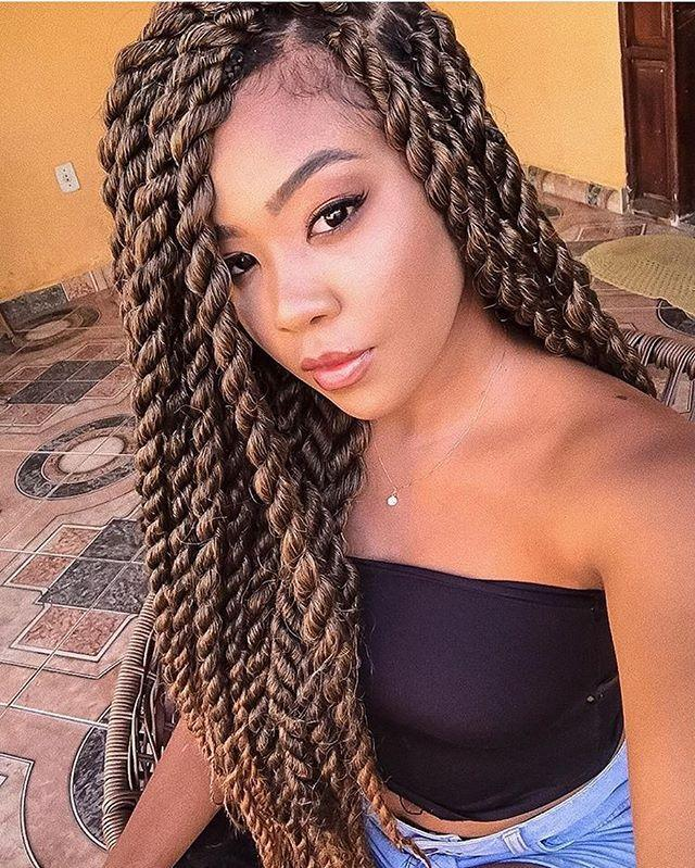 "<p>IMO, light brown is the perfect shade for Senegalese twists. It's not basic (like black) and it's not too over-the-top (like a super-bold color). <strong>Don't forget to sleep on a <a href=""https://www.amazon.com/JIMOO-Pillowcase-Mulberry-Standard-20%C3%9726inch/dp/B07RGFS927/ref=sr_1_7?linkCode=ogi&tag=cosmopolitan_auto-append-20&ascsubtag=[artid