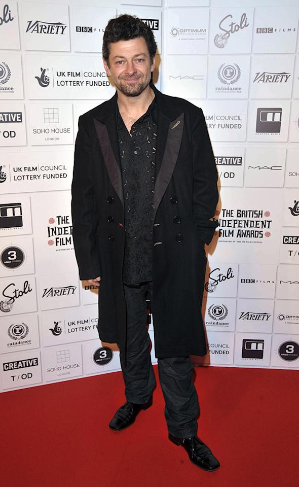 "<a href=""http://movies.yahoo.com/movie/contributor/1800294245"">Andy Serkis</a> at the 2009 British Independent Film Awards in London - 12/06/2009"