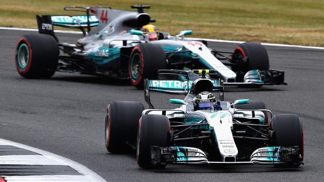 Hamilton and Bottas. Image: Getty