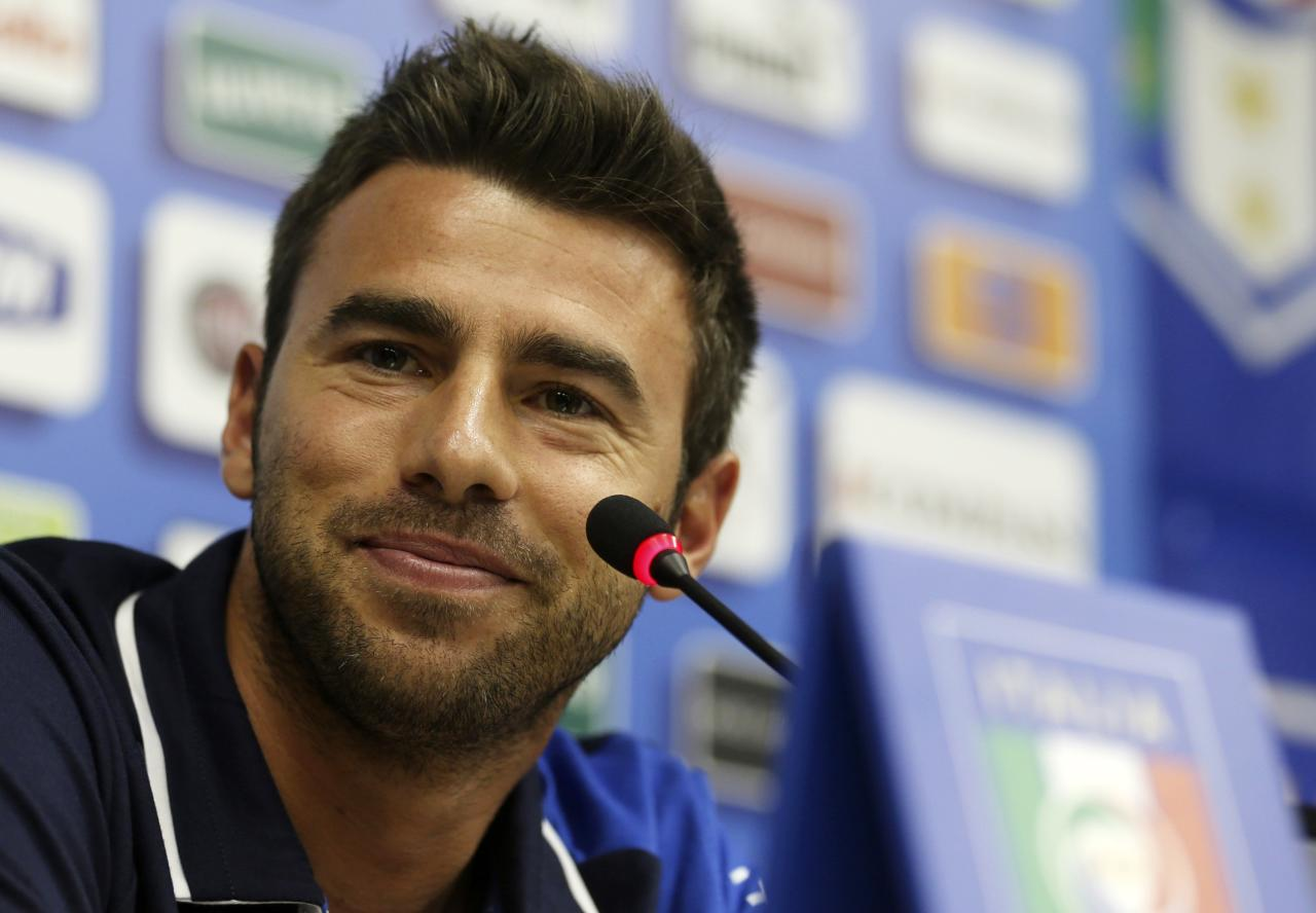Italy's national soccer player Andrea Barzagli attends a news conference before a training session ahead of the Confederations Cup in Rio de Janeiro in this June 14, 2013 file photo. REUTERS/Pilar Olivares/Files (BRAZIL - Tags: SPORT SOCCER HEADSHOT WORLD CUP)