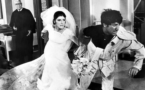 Katharine Ross and Dustin Hoffman in The Graduate (1967) - Credit: Film Stills