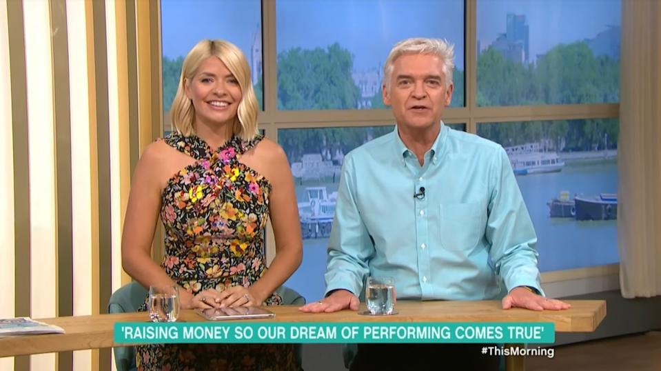 Holly Willoughby and Phillip Schofield donated £5,000 of their own money to Catcote Academy in today's episode (ITV)