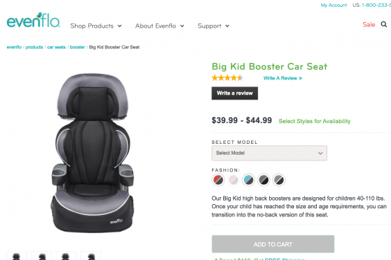 Car seat company faces safety concerns over test dummy video (Evenflo)