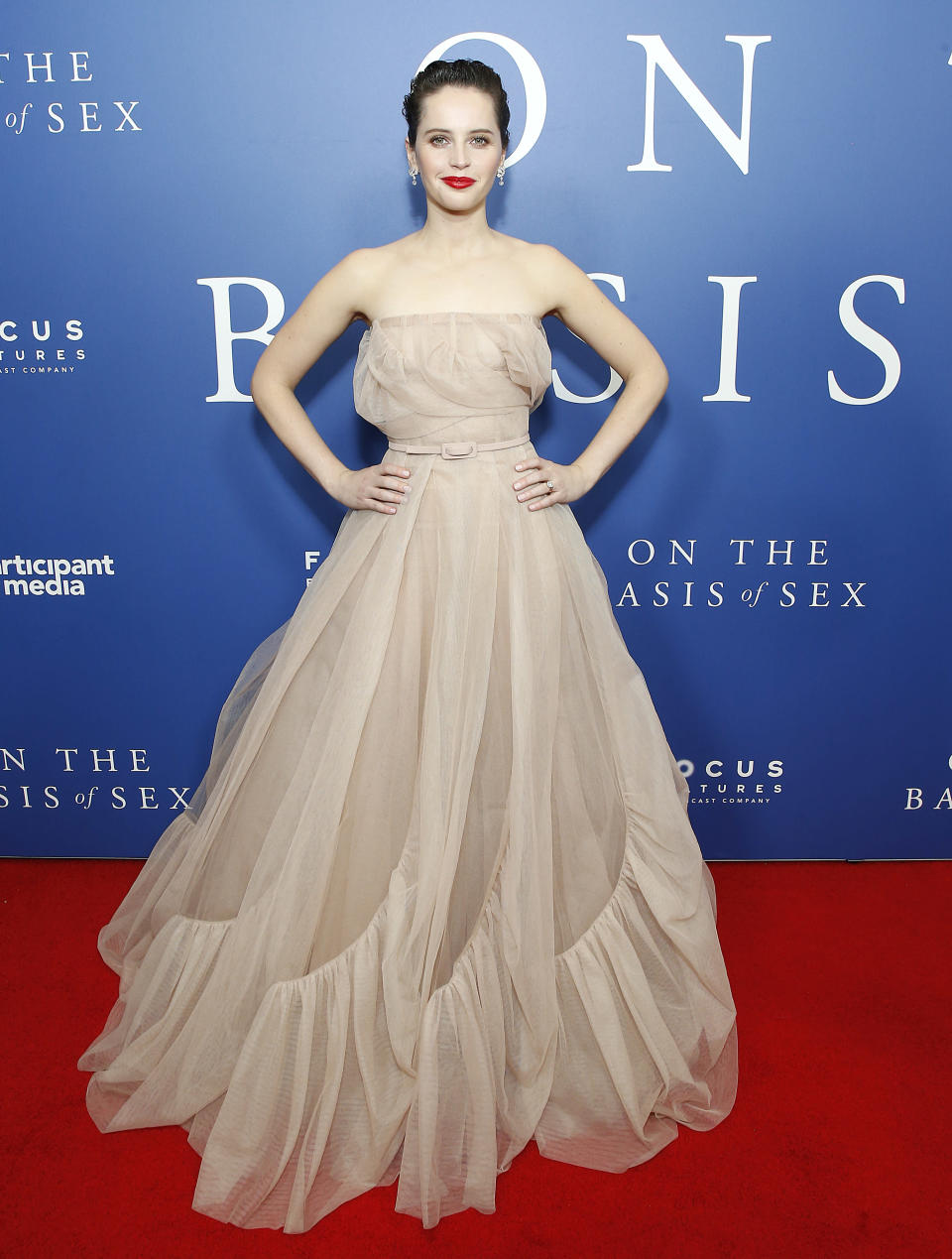 <p>The British star pulled out all the stops in a fairytale gown by Dior. <em>[Photo: Getty]</em> </p>