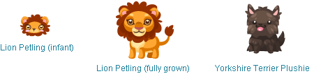 Lion Petling and Toto in Pet Society